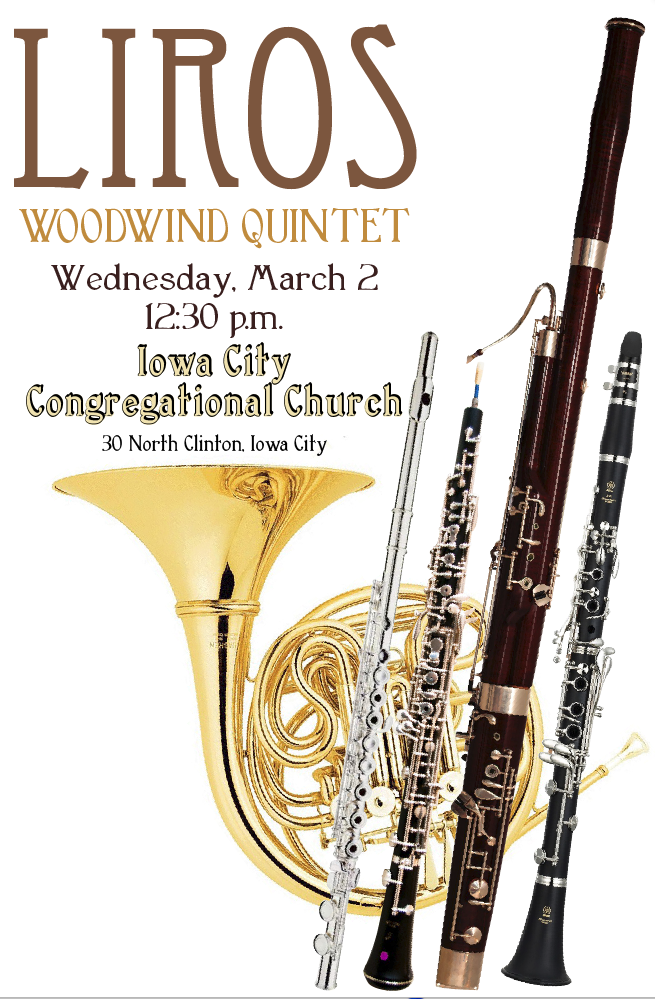 Poster for woodwind quintet