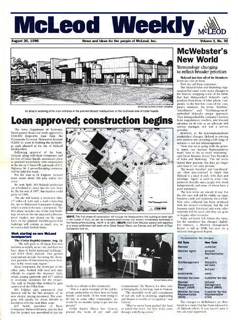Weekly corporate newspaper