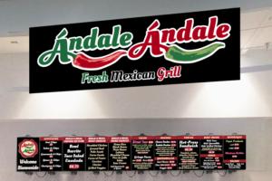Restaurant logos and signage