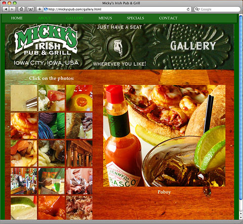 Micky's Irish Pub & Grill site
